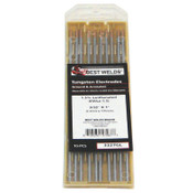 Best Welds 1.5% Lanthanated Tungsten Electrodes, 3/32 in Dia, 7 in Long, 1 PK, #3327GL