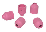 Best Welds Alumina Nozzle TIG Cups, 1/4 in, Size 4, For Torch 20; 22; 25; 9, Small Gas Lens, 10 EA, #53N58