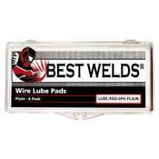 Best Welds Lube Pads, Plain, Silver, 6 PK, #LUBEPAD6PKPLAIN