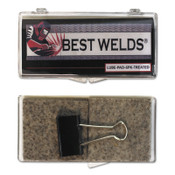 Best Welds Lube Pads, Treated, Silver, 6 PK, #LUBEPAD6PKTREATED