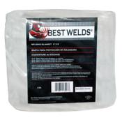 Best Welds Welding Blankets, 10 ft X 10 ft, Fiberglass, White, 18 oz, 1 EA, #20251810X10