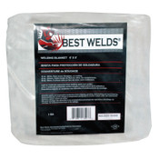 Best Welds Welding Blankets, 3 ft X 3 ft, Fiberglass, Orange, 18 oz, 1 EA, #2025183X3
