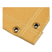 BEST WELDS Welding Blankets, 10 ft x 10 ft, Fiberglass, Yellow, 24 oz, 1 EA, #AC23002410X10