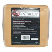 Best Welds Welding Blanket, 8 ft X 6 ft, Fiberglass, Yellow, 24 oz, 1 EA, #AC2300246X8