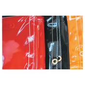 Best Welds Welding Curtains, 8 ft X 5 ft, PVC, Orange, 1 EA, #CURTAIN5X8ORG