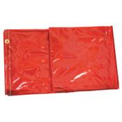 Best Welds Welding Curtains, 6 ft X 6 ft, PVC, Orange, 1 EA, #CURTAIN6X6ORG