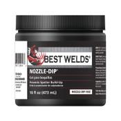 Best Welds Nozzle Dip Gel, 16 oz Jar, Blue, 1 EA