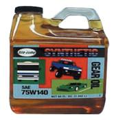 CRC Syn-Go Synthetic Gear Oils, 1/2 gal Bottle, 4 CS, #SL2496