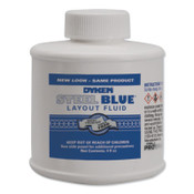 ITW Pro Brands Layout Fluid, 4 oz Brush-In-Cap, Blue, 12 BO, #80300