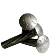 "3/8""-16x2-1/2"" Fully Threaded Carriage Bolts A307 Grade A Coarse HDG (50/Pkg.)"