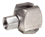 Alemite Button Head Coupler, Female/Female, 1/8 in, Standard pull-on type, 1 EA, #42030A