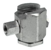 Alemite Button Head Coupler, Female/Female, 1/8 in, Giant pull-on type, 1 EA, #304300A