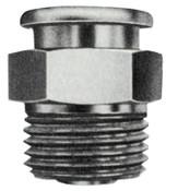 Alemite Button Head Fittings, Straight, 31/32 in, Male/Female, 1/8 in (NPTF), 1 EA, #C69