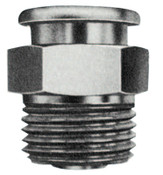 Alemite Button Head Fittings, Straight, 1 1/16 in, Male/Male, 1/2 in (NPTF), 1 EA, #18201
