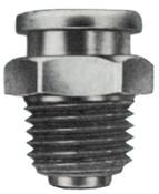 Alemite Button Head Fittings, Straight, 53/64 in, Male/Male, 1/4 in (NPTF), 1 EA, #A1186