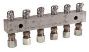 Alemite Header Blocks, 5 3/4 in, 1/8 in (NPTF) inlet, 1 EA, #6136