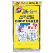 Warp Brothers Super Heavyweight Drop Cloths, 9 ft x 12 ft, 4-Mil, 12 CTN, #4JC912