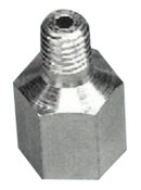 Alemite Grease Fitting Adapters, Straight, Male/Female, 7/16 in (NS), 1 EA, #305859