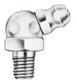 Alemite Hydraulic Fittings, Elbow - 65°, 25/32 in, Male/Male, 1/4 in (SAE), 1 EA, #3010B1