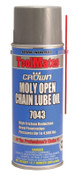 Aervoe Industries Moly/Oil Open Chain Lube, 16 oz, Aerosol Can, 12 CN, #7043