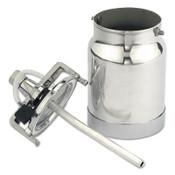 Binks Pressure Cups, 1 qt, Stainless Steel, 1 EA