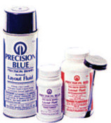 Precision Brand Precision Blue Layout Fluids, 8 oz Brush-In-Cap, Blue, 12 CAN, #50181