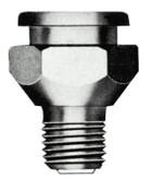 Alemite Button Head Fittings, Straight, 1 1/4 in, Male/Male, 1/4 in (NPTF), 1 EA, #18231
