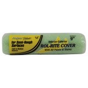 Linzer Rol-Rite Roller Cover, 9 in, 1/2 in Nap, Knit Fabric, 24 BX