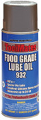 Aervoe Industries Food Grade Lube Oils, 16 oz, Aerosol Can, 12 CN, #932