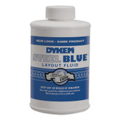 ITW Pro Brands Layout Fluid, 8 oz Brush-In-Cap, Blue, 12 BO, #80400