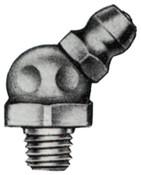 Alemite Hydraulic Fittings, Elbow - 45°, 13/16 in, Male/Male, 1/4 in (SAE), 1 EA, #1637B1