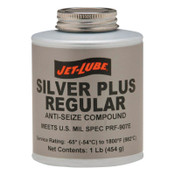 Jet-Lube Silver Plus Regular Anti-Seize Compound, 1/2 lb Brush Top Can, 12 EA, #69902