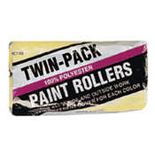 Linzer Economy Twin-Pack Roller Covers, 9 in, 3/8 in Nap, Polyester Fabric, 36 BOX