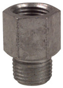 Alemite Fitting Extensions, Straight, 1 1/4 in, Male/Female, 1/8 in (PTF), 1 EA, #43762