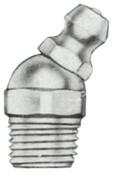Alemite Hydraulic Fittings, Elbow - 30°, 29/32 in, Male/Male, 1/8 in (PTF), 1 EA, #1611B