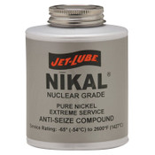 Jet-Lube Nikal Nuclear Grade High Temperature Anti-Seize and Thread Lubricant, 1/2 lb Jar, 12 CA, #13502
