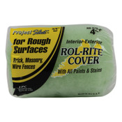 Linzer Rol-Rite Roller Covers, 4 in, 3/4 in Nap, Knit Fabric, 12 BOX, #RR9754