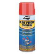 Aervoe Industries Any-Way RustProof Enamels, 12 oz Aerosol Can, Black, Semi-Flat, 6 CA, #342