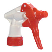 Boardwalk Trigger Sprayer 250 for 24 oz Bottles, Red/White, 8 in Tube, 24 CA