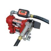 Fill-Rite Rotary Vane Pumps, 12 V, 3/4 in (NPT), 12 ft Hose, 15 gal/min, 1 EA, #FR1219G