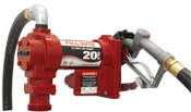 Fill-Rite Rotary Vane Pumps w/ Hose and Manual Nozzle, 12VDC, 1 in, 12 ft Hose, 1 EA, #FR4210G
