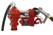 Fill-Rite Rotary Vane Pumps w/ Hose and Manual Nozzle, 115 VAC, 3/4 in, 12 ft Hose, 1 EA