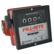 Fill-Rite Mechanical Flow Meters, 1 1/2 in Inlet, 6 gal/min - 40 gal/min, 4 Wheel, 1 EA, #901C15