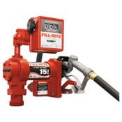 Fill-Rite Rotary Vane Pumps, 12 VAC, 3/4 in, 12 ft Hose, 1 EA