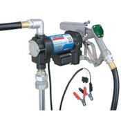 Lincoln Industrial 1550 Fuel Transfer Pumps, 12 V, 1 in NPT, 13 ft Hose, 1 EA