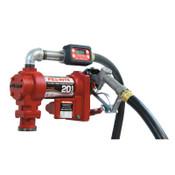 Fill-Rite Rotary Vane Pumps, 12 V, 3/4 in (NPT), 12 ft Hose, 21 gal/min, 1 EA