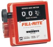 Fill-Rite Mechanical Flow Meters, 1 in Inlet, 5 gal/min - 20 gal/min, 3 Wheel, 1 EA, #807C1