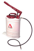 Alemite Multi-Pressure Bucket Pumps, 5 gal, 5 ft Hose, 1 EA