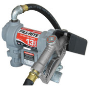 Fill-Rite Rotary Vane Pumps, 12 VAC, 3/4 in, 10 ft Hose, 1 EA