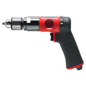 CHICAGO PNEUMATIC CP9790C Pistol Drill, 3/8 in Chuck, 2,100 rpm, Keyed Metal, 1 EA, #8941097900